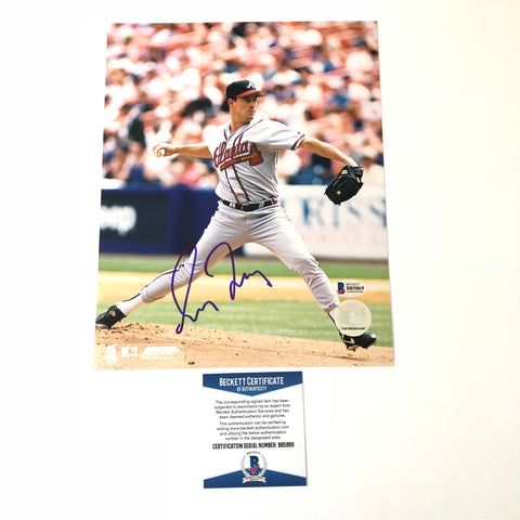 Greg Maddux signed 8x10 photo BAS Beckett Atlanta Braves Autographed