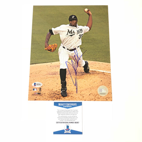 Dontrelle Willis signed 8x10 photo BAS Florida Marlins Autographed