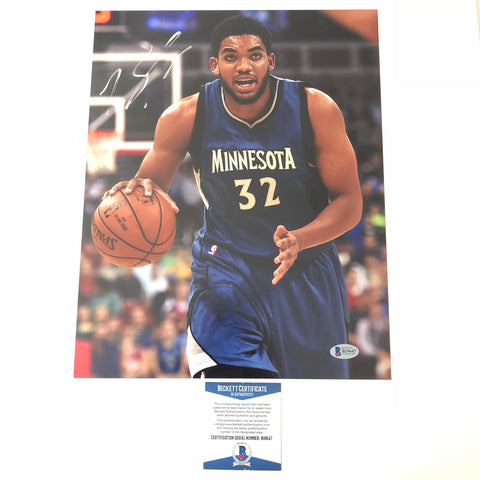 Karl-Anthony Towns signed 11x14 photo BAS Beckett Minnesota Timberwolves Autographed