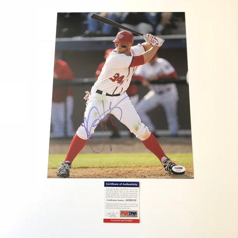 Bryce Harper signed 11x14 photo PSA/DNA Washington Nationals Autographed