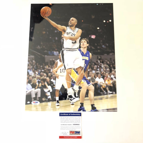 Tony Parker signed 11x14 photo PSA/DNA San Antonio Spurs Autographed