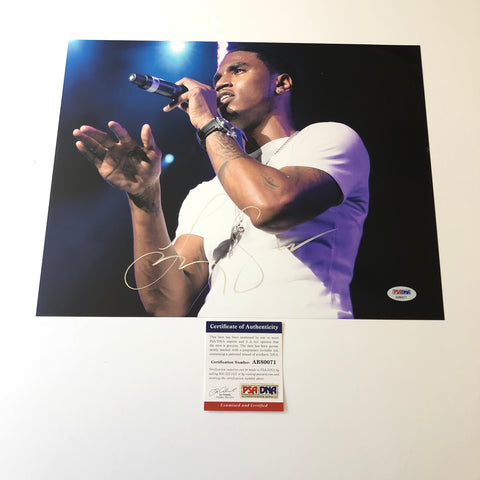 Trey Songz signed 11x14 photo PSA/DNA autographed Rapper