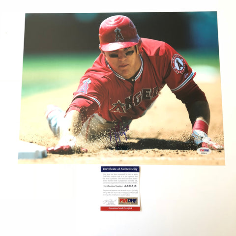 Mike Trout signed 11x14 photo PSA/DNA Los Angeles Angels Autographed