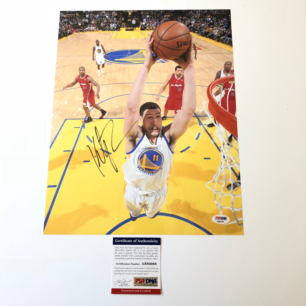finest selection 9f75f 2891d Klay Thompson signed 11x14 photo PSA/DNA Golden State ...