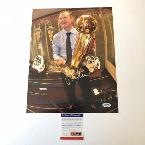 Steve Kerr signed 11x14 photo PSA/DNA Golden State Warriors Autographed