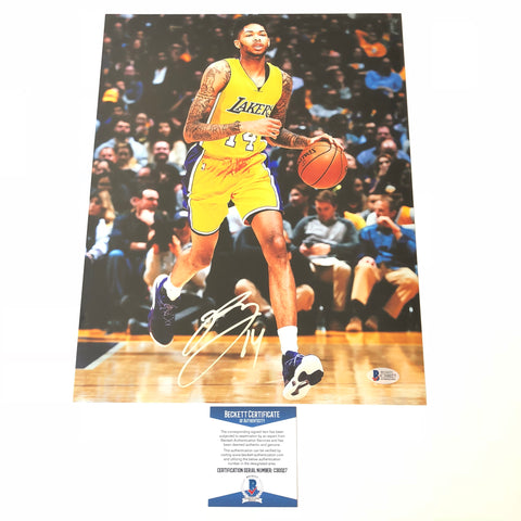 Brandon Ingram signed 11x14 photo BAS Beckett Los Angeles Lakers Autographed