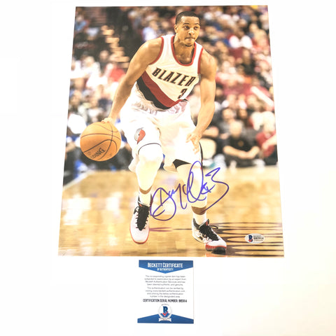 CJ McCollum signed 11x14 photo BAS Beckett Portland Trail Blazers Autographed