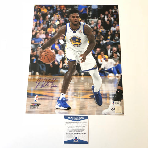 Jordan Bell signed 11x14 photo BAS Beckett Golden State Warriors Autographed
