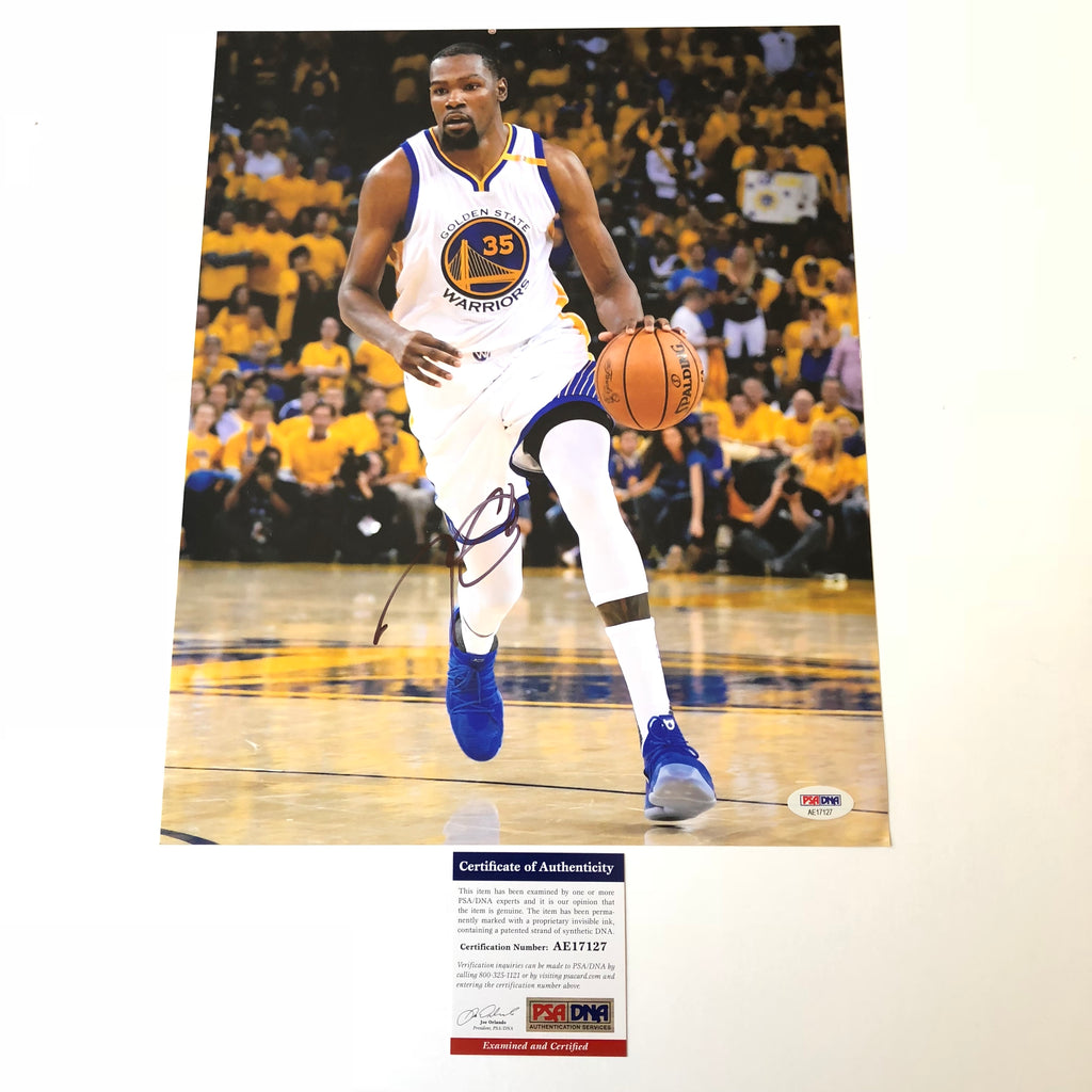 9fbcf19b Kevin Durant signed 11x14 photo PSA/DNA Golden State Warriors Autographed