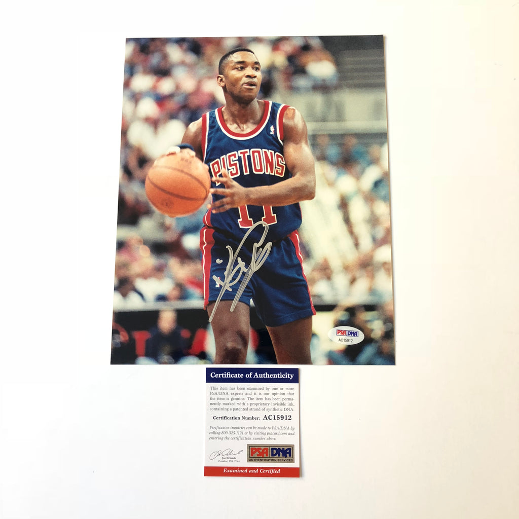 80fd19b50 Isiah Thomas signed 8x10 photo PSA DNA Detroit Pistons Autographed ...