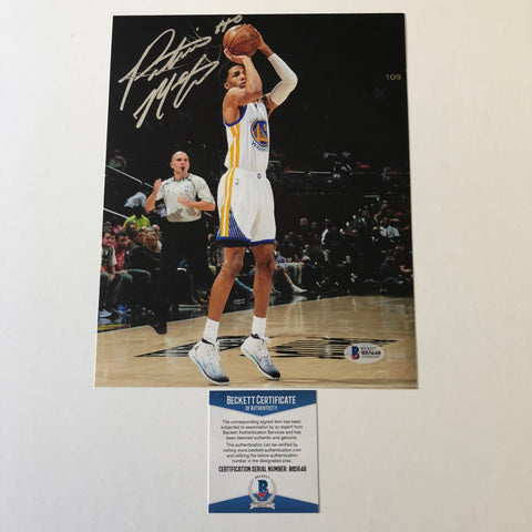 Patrick McCaw signed 8x10 photo BAS Beckett Golden State Warriors Autographed