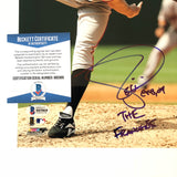Tim Lincecum signed 8x10 photo BAS Beckett San Francisco Giants Autographed Inscribed