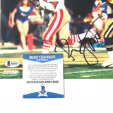 Ronnie Lott signed 8x10 photo BAS Beckett San Francisco 49ers Autographed