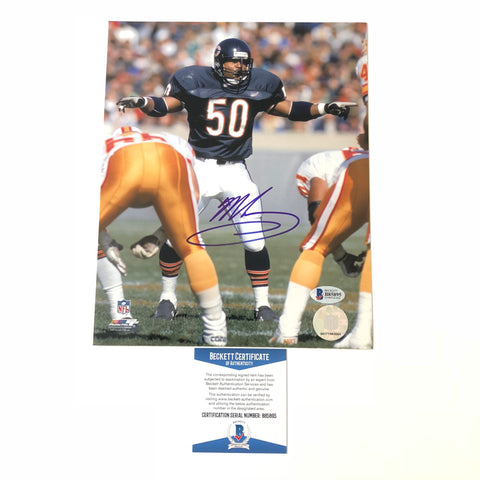Mike Singletary signed 8x10 photo BAS Beckett Chicago Bears Autographed
