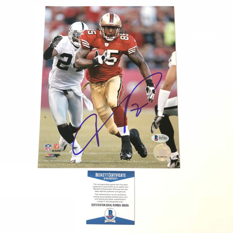 Vernon Davis signed 8x10 photo BAS Beckett San Francisco 49ers Autographed