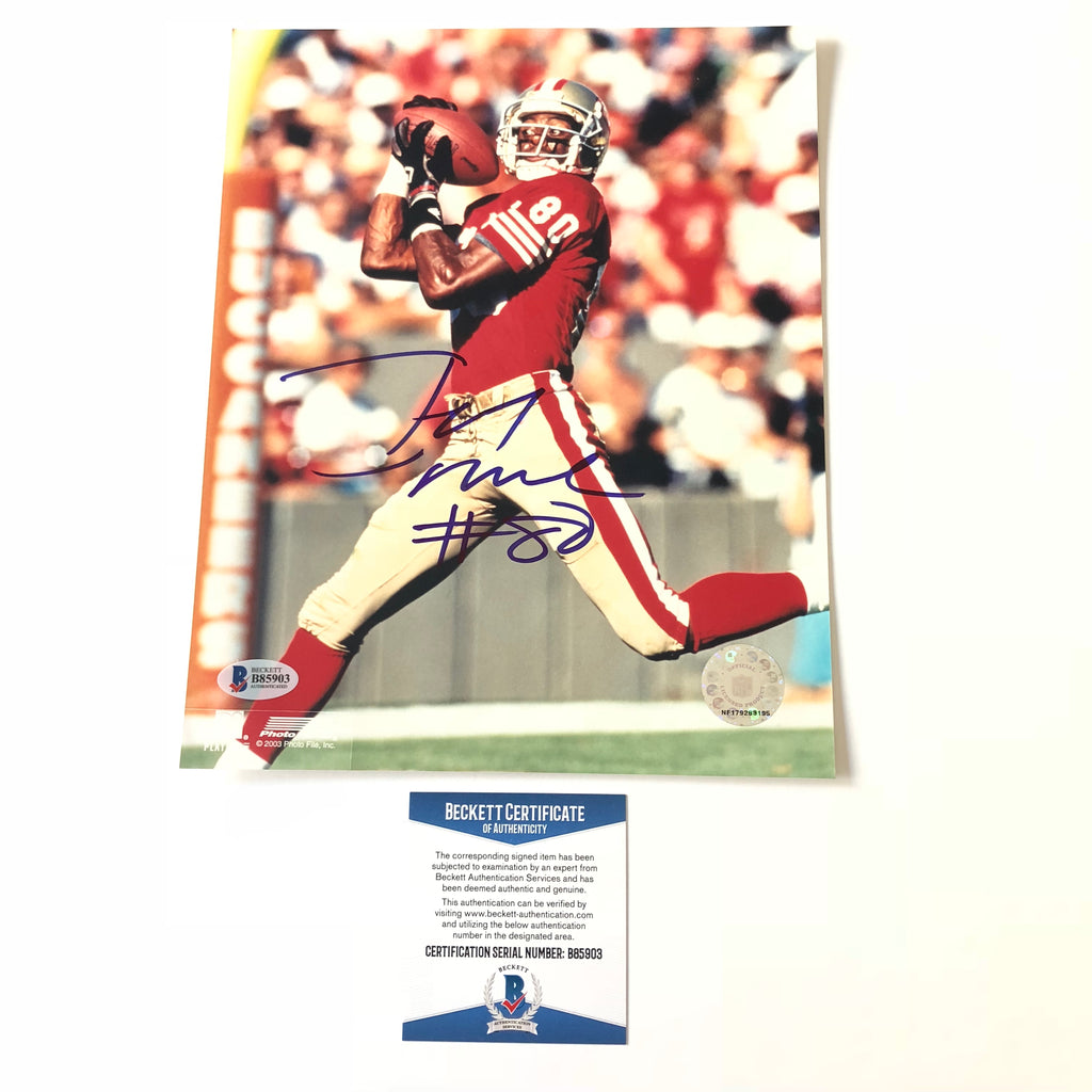1961a5152 Jerry Rice signed 8x10 photo BAS Beckett San Francisco 49ers Autographed