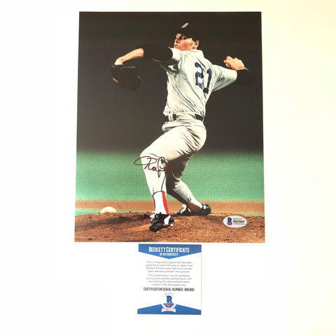 Roger Clemens signed 8x10 photo BAS Beckett New York Yankees Autographed