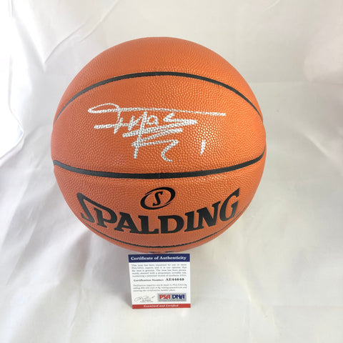 Tracy McGrady signed Basketball PSA/DNA Houston Rockets autographed