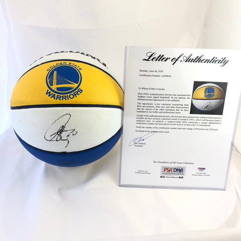 Stephen Curry signed Basketball PSA/DNA Golden State Warriors autographed Steph