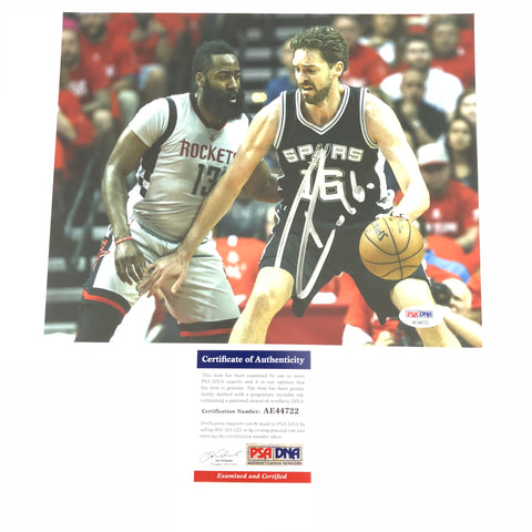 Pau Gasol signed 8x10 photo PSA/DNA San Antonio Spurs Autographed
