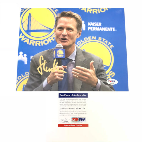 Steve Kerr signed 8x10 photo PSA/DNA Golden State Warriors Autographed