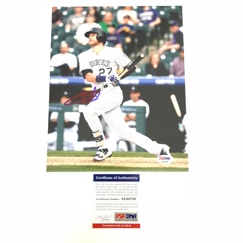 Trevor Story signed 8x10 photo PSA/DNA Colorado Rockies Autographed