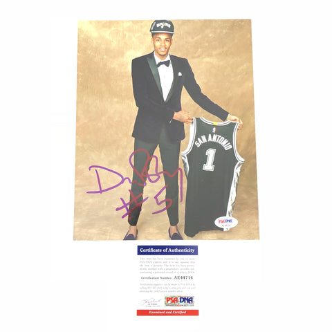 Dejounte Murray signed 8x10 photo PSA/DNA San Antonio Spurs Autographed