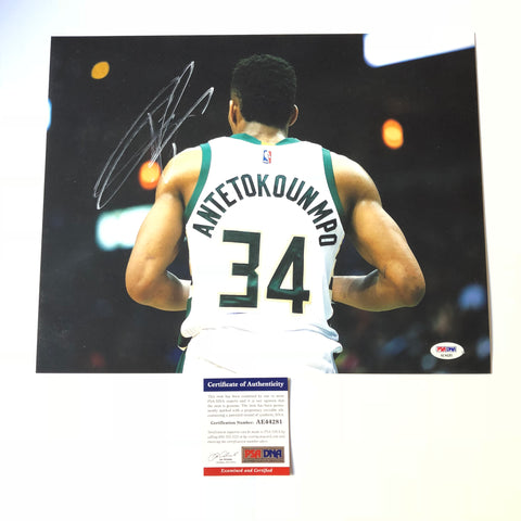 Giannis Antetokounmpo signed 11x14 photo PSA/DNA Milwaukee Bucks Autographed