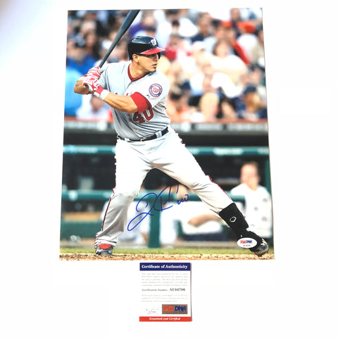 Wilson Ramos signed 11x14 photo PSA/DNA Washington Nationals Autographed