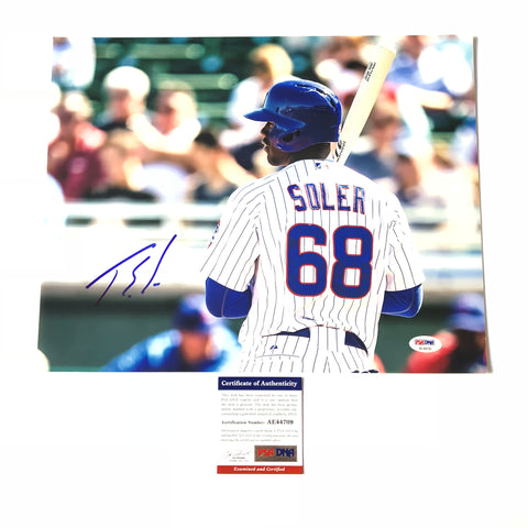 Jorge Soler signed 11x14 photo PSA/DNA Chicago Cubs Autographed