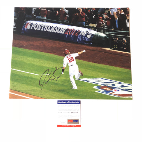 Jayson Werth signed 11x14 photo PSA/DNA Washington Nationals Autographed