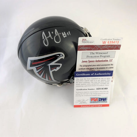 Julio Jones signed mini helmet PSA/DNA Atlanta Falcons autographed JSA