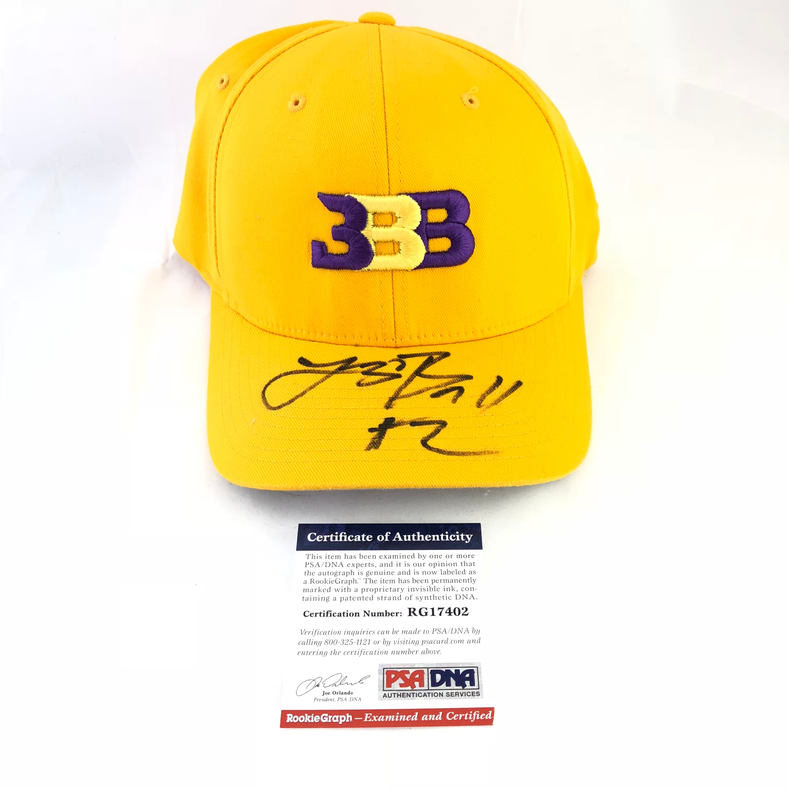 Lonzo Ball signed BBB Hat PSA/DNA Lakers Autographed Big Baller Brand
