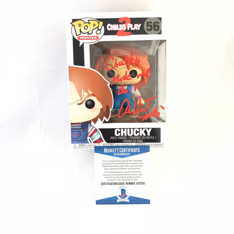 Alex Vincent Signed Chucky Funko Pop Child's Play 2 Beckett BAS Autographed