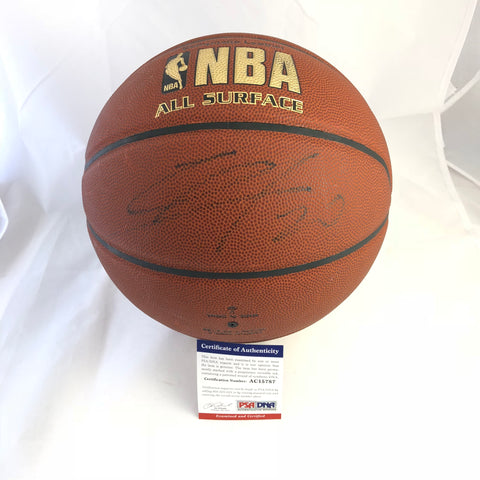 Manu Ginobili signed Basketball PSA/DNA San Antonio Spurs autographed