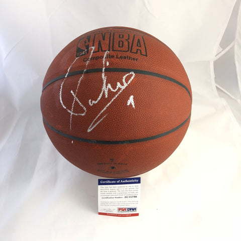 Tony Parker signed Basketball PSA/DNA San Antonio Spurs autographed