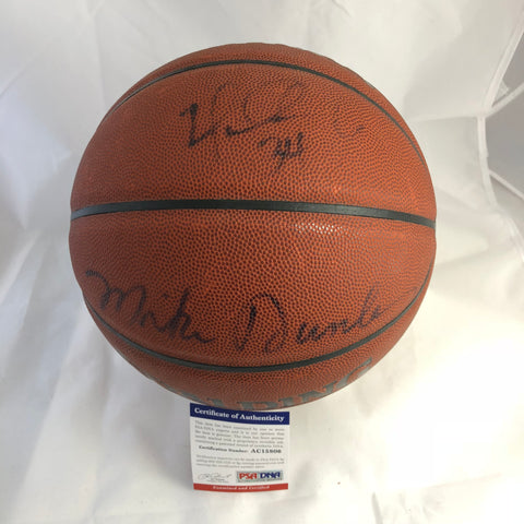 Mike Dunleavy Jr and Sr signed Basketball PSA/DNA autographed Father Son ball