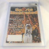 Stephen Curry signed SI Magazine BAS Beckett Warriors Autographed slabbed Steph