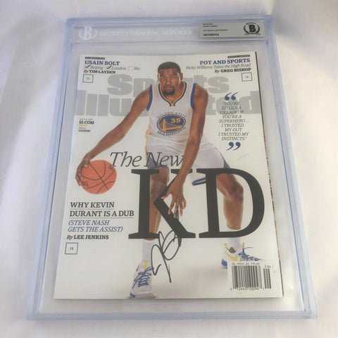 Kevin Durant signed SI Magazine BAS Beckett Warriors Autographed slabbed KD