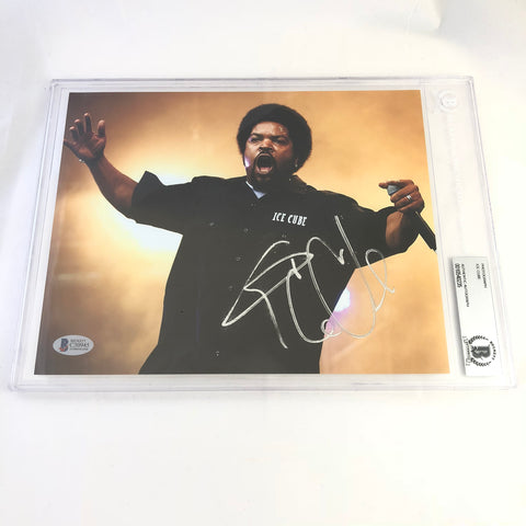 Ice Cube signed 8X10 photo BAS Beckett slabbed autographed