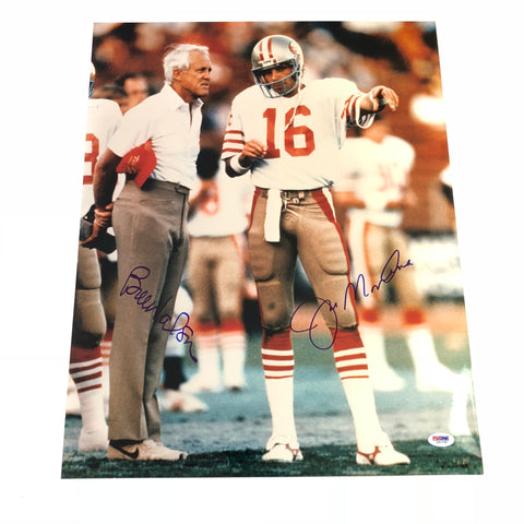 Bill Walsh Joe Montana signed 16x20 photo PSA/DNA San Francisco 49ers Autographed