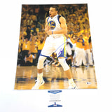 Stephen Curry signed 16x20 photo BAS Beckett Golden State Warriors Autographed