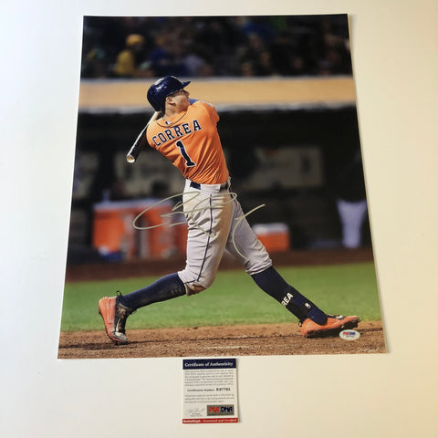 Carlos Correa signed 16x20 photo PSA/DNA Houston Astros Autographed