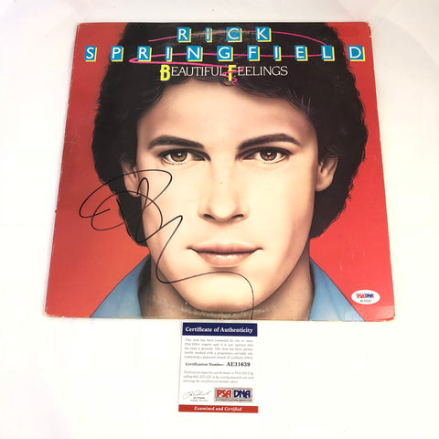Rick Springfield signed Beautiful Feelings LP Vinyl PSA/DNA Album autographed