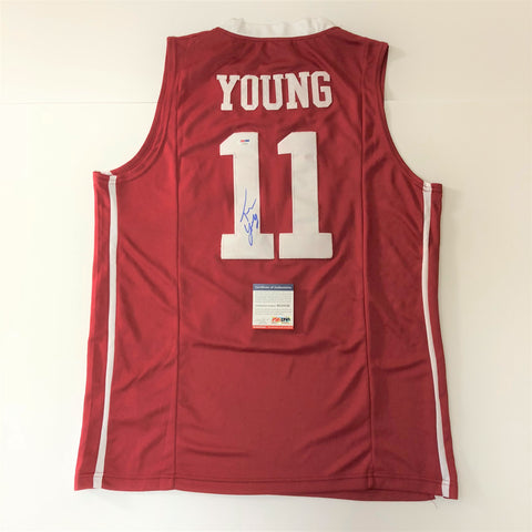 Trae Young signed jersey PSA/DNA Oklahoma Sooners Autographed Atlanta Hawks