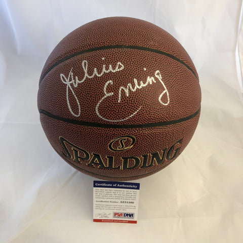 Julius Erving signed Basketball PSA/DNA Philadelphia 76ers autographed