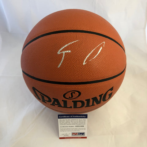 Giannis Antetokounmpo signed Basketball PSA/DNA Milwaukee Bucks autographed