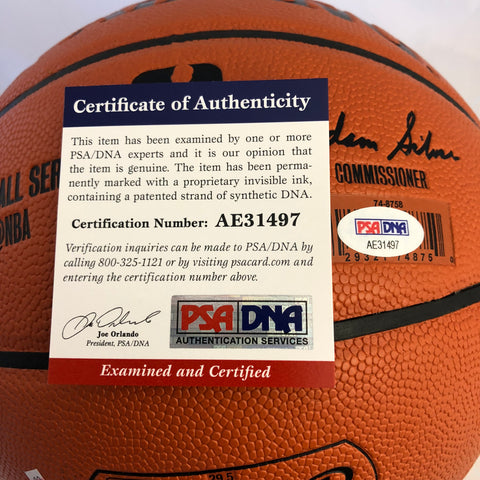 san francisco 6da26 44a71 Magic Johnson signed Basketball PSA/DNA Los Angeles Lakers autographed