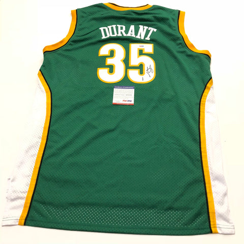 Kevin Durant signed jersey PSA/DNA Seattle Supersonics Autographed Warriors