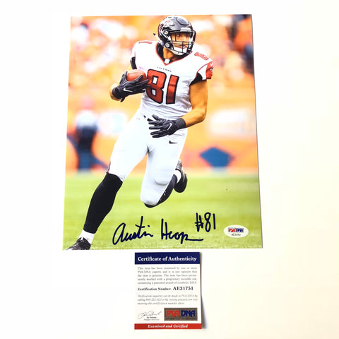 Austin Hooper signed 8x10 photo PSA/DNA Atlanta Falcons Autographed